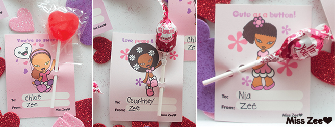 Miss Zee Valentine's Day Cards