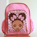 Miss Zee Cheetah Natural Hair Afro Backpack
