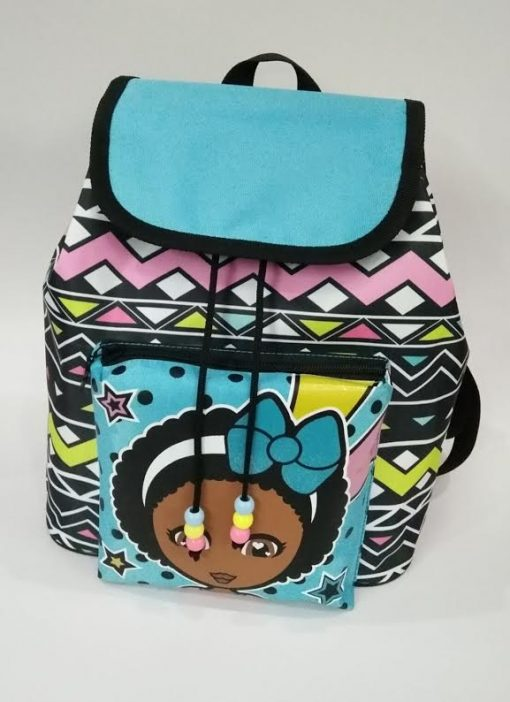 Natural Hair Drawstring Backpack