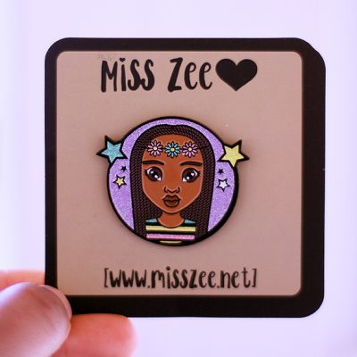 Natural Hair Enamel Pin